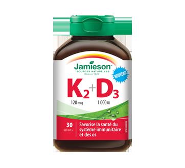 Image du produit Jamieson - Vitamine K2 120 mcg + D3 1000 UI, 30 unités