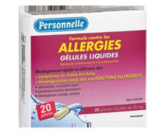 Image du produit Personnelle - Gélules liquide 20 mg, allergies,, 20 unités