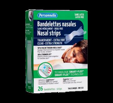 Image du produit Personnelle - Bandelettes nasales extra fort, 26 unités, transparent