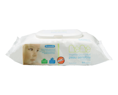 Image du produit Personnelle - Lingettes pour bébé peau sensible, 64 lingettes