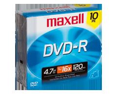 Image du produit Maxell - DVD-R 4,7 go, 10 unités