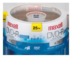 Image du produit Maxell - DVD-R 4,7 go, 25 unités