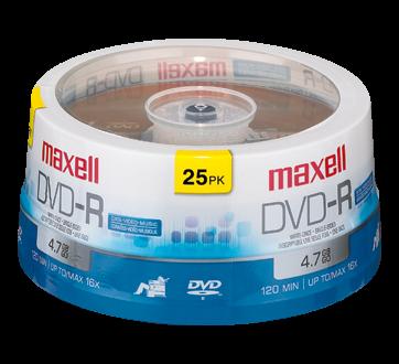 DVD-R 4,7 go, 25 unités