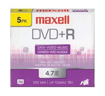DVD+R, 5 unités
