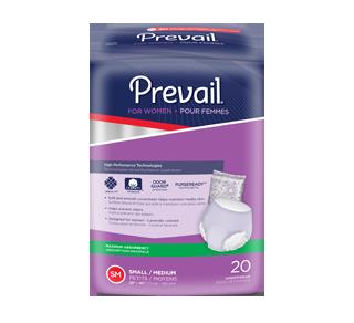 PurseReady sous-vêtements pour femmes, 20 unités, absorption maximale, petits-moyens