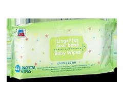 Image du produit PJC - Lingettes pour bébé, 64 lingettes