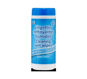 Lingettes nettoyantes humides, 40 unités, salle de bain
