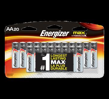 Max piles alcalines AA, 20 unités