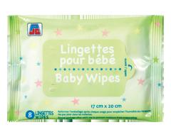 Image du produit PJC - Lingettes pour bébé, 8 unités