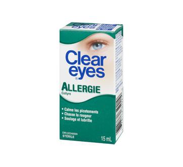 Image 1 du produit Clear Eyes - Clear Eyes allergie, 15 ml