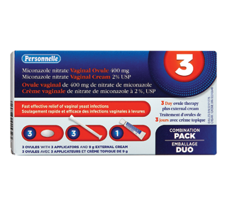 Crème vaginale, traitement 3 jours – Personnelle ...