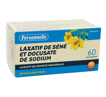 Image 2 du produit Personnelle - Laxatif de Séné et docusate de sodium avec émollient, 60 unités