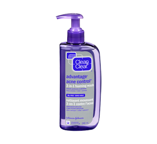 Advantage Acne Control nettoyant moussant 3-en-1 contre l'acné, 240 ml