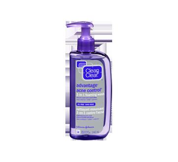 Image 1 du produit Clean & Clear - Advantage Acne Control nettoyant moussant 3-en-1 contre l'acné, 240 ml