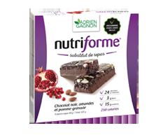 Image du produit Adrien Gagnon - Nutriforme barres, 5 barres, chocolat noir, amandes et pomme-grenade