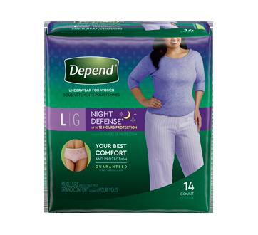 Night Defense sous-vêtements pour femmes, 14 unités, grand