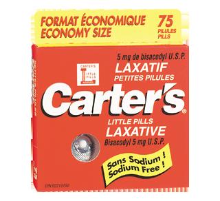 Petites pilules laxatif, 75 comprimés – Carter's