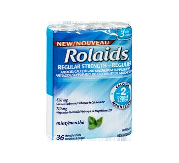 Image 2 du produit Rolaids - Comprimés réguliers à double action, 3 x 12 unités, menthe