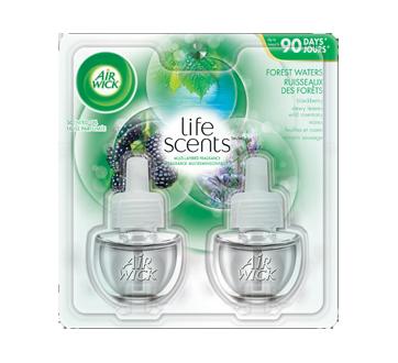 Life Scents recharge d'huile parfumée, 2 x 20 ml, ruisseaux des forêts