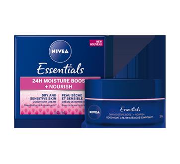Image 2 du produit Nivea - Essentials 24h Moisture Boost + Nourish crème de nuit, 50 ml, peau sèche et sensible