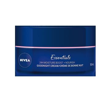 Image 3 du produit Nivea - Essentials 24h Moisture Boost + Nourish crème de nuit, 50 ml, peau sèche et sensible