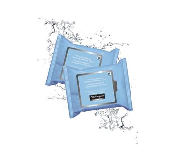 Image 3 du produit Neutrogena - Lingettes nettoyantes démaquillantes tout-en-un, 2 x 25 unités