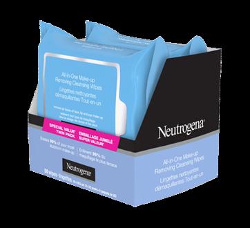 Image 7 du produit Neutrogena - Lingettes nettoyantes démaquillantes tout-en-un, 2 x 25 unités