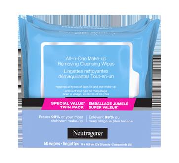 Image 8 du produit Neutrogena - Lingettes nettoyantes démaquillantes tout-en-un, 2 x 25 unités
