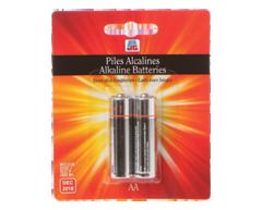 Image du produit PJC - Piles alcalines AAA, 2 batteries