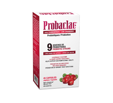 Image du produit Probaclac - Probiotiques avec canneberge, 45 unités