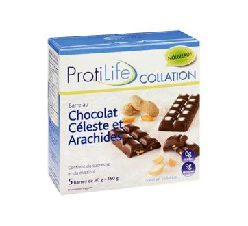 Image 2 du produit ProtiLife - Collation barre, 5 x 30 g, chocolat céleste et arachides