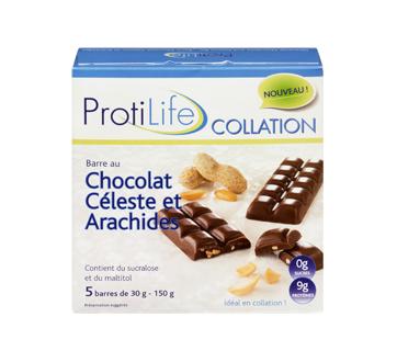 Image 3 du produit ProtiLife - Collation barre, 5 x 30 g, chocolat céleste et arachides