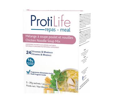 Image 1 du produit ProtiLife - Diète mélange à soupe, 5 x 39 g, poulet et nouilles