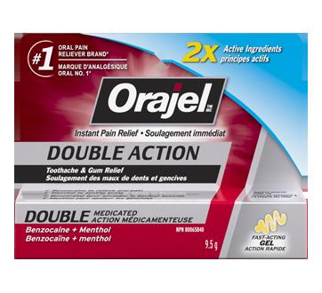 Image du produit Orajel - Soulagement immédiat double action, 9,5 g