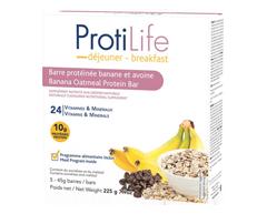 Image du produit ProtiLife - Diète barre déjeuner, 5 x 45 g, banane et avoine