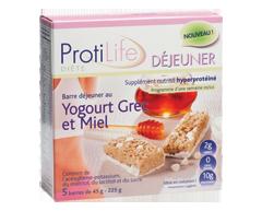 Image du produit ProtiLife - Déjeuner barre au yogourt grec et miel, 5 x 45 g