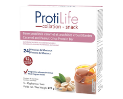 Image du produit ProtiLife - Diète barre caramel et arachide croustillante, 5 x 45 g