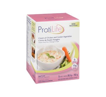 Image 2 du produit ProtiLife - Diète mélange à soupe, 5 x 38,5 g, crème de poulet potagère