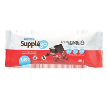 Image du produit Personnelle - Supplégo barre protéinée, 45 g, canneberge chocolat