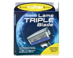 Image du produit Personnelle - Lame Triple cartouches, 5 unités