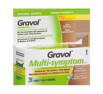 Image du produit Gravol - Multi-Symptom comprimés, 20 unités, gingembre