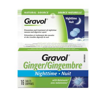 Image du produit Gravol - Gravol Gingembre pour la nuit, 16 unités
