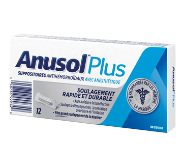 Image du produit Anusol - Anusol Plus suppositoires, 12 unités