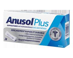 Image du produit Anusol - Anusol Plus suppositoires, 24 unités