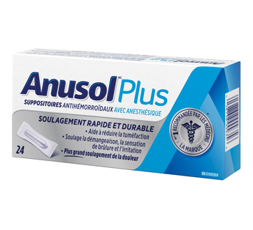 Image 1 du produit Anusol - Anusol Plus suppositoires, 24 unités