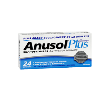 Image 2 du produit Anusol - Anusol Plus suppositoires, 24 unités