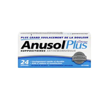 Image 3 du produit Anusol - Anusol Plus suppositoires, 24 unités