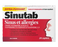 Image du produit Sinutab - Extra-puissant, sinus et allergies, 24 unités