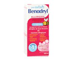 Image du produit Benadryl - Benadryl Liquide pour enfants, 100 ml, gomme à bulles