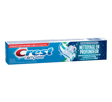 Image 2 du produit Crest - Complete dentifrice Blanchissant+Nettoyage en profondeur, 125 ml, menthe effervescente